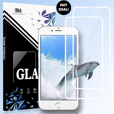 iPhone Edge to Edge Tempered Glass Screen Protector for iPhone 8/7/6/6S (SALE) LARGE