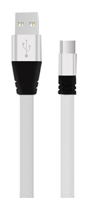 6-Foot USB Type-C to USB-A 2.0 Male Cable - White