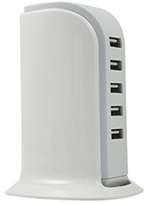 USB 5 Port Desktop Charging Tower THUMBNAIL