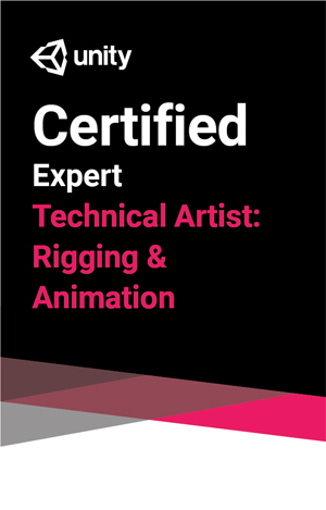 Unity Certified Expert: Technical Artist Rigging and Animation Exam LARGE