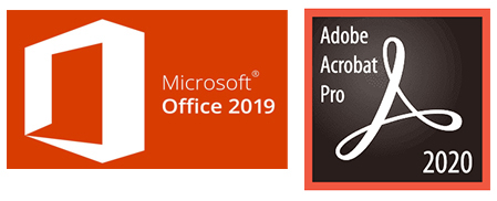 Microsoft Office 2019 with Adobe Acrobat Pro 2020 (Windows) - Download THUMBNAIL