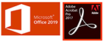 Microsoft Office 2019 Pro Plus (Download) with Adobe Acrobat Pro 2017 (Windows - DVD)