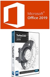 Microsoft Office 2019 Pro Plus for Windows with TurboCAD Deluxe 2020 (Download) LARGE