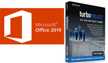Microsoft Office Pro 2019 with TurboProject Pro - Project Planning Bundle (Windows Download)