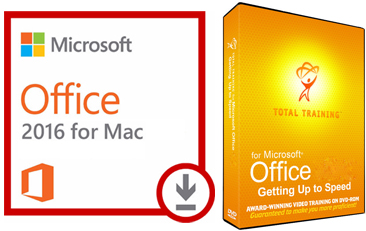 Microsoft Office 2016 with Total Training for Mac (WAH Download)