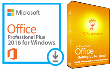 Microsoft Office 2016 with Total Training for Windows (WAH Download)