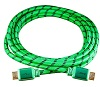 ZipKord 4K Compatible 12-Foot Cotton-Braided Green-Friendly HDMI Cable
