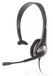 Cyber Acoustics AC-104 Mono Headset with Y-Adapter LARGE