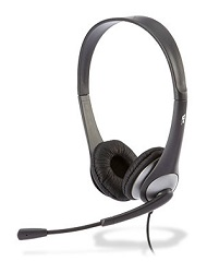 Cyber Acoustics AC-204 Speech Recognition Stereo Headset with Y-Adapter LARGE
