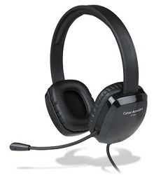 Cyber Acoustics AC-6012 USB Stereo Headset with Mic LARGE
