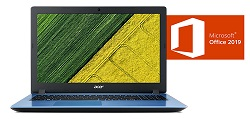"Acer Aspire 3 15.6"" FHD Intel Celeron 4GB RAM Laptop PC with MS Office Pro 2019 (Stone Blue)"