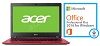 "Acer Aspire 3 A315-51 15.6"" Intel Core i5 6GB RAM Notebook PC with Microsoft Office Pro 2016 (Red)"