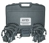 Avid AE-808 Over-Ear Headphones Classroom 8-Pack with Jack Box & Case (Black)