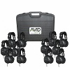 Avid AE-808 Over-Ear Headphones Classroom 12-Pack with Case (Black)