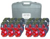 Avid AE-808 Over-Ear Headphones Classroom 12-Pack with Case (Red)