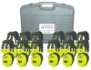 Avid AE-808 Over-Ear Headphones Classroom 12-Pack with Case (Yellow)