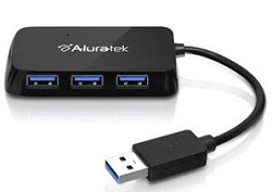 Aluratek 4-Port USB 3.0 SuperSpeed Hub