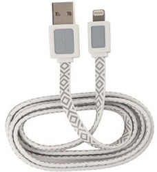 AR for Her Lightning 3 Ft Power & Sync Cable (White & Gray)