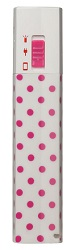 AR for Her Zipstick Power Charger (Pink Polka Dots)