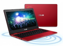 "ASUS Chromebook 12 11.6"" Intel Celeron 4GB RAM 32GB eMMC (Red) (School Sales Only) LARGE"