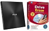 ASUS ZenDrive External Slimline CD/DVD Reader/Writer with Drive Erase Pro