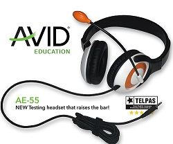 Avid AE-55 On-Ear Stereo 3.5mm TRRS Headset with Microphone (Orange) LARGE