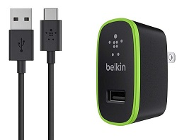 Belkin USB-C to USB-A Cable with Universal Home Charger LARGE