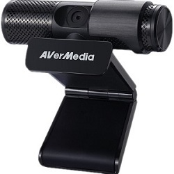 AVerMedia Live Streamer CAM 313 Full HD USB Swiveling Webcam with 2 Mics & Special Effects LARGE