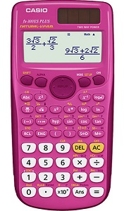 Casio FX-300ESPLUS Solar Scientific Calculator (Pink)_LARGE