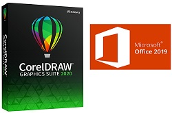 Microsoft Office 2019 Pro Plus with CorelDRAW Graphics Suite 2020 (Windows) LARGE