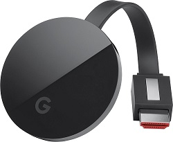 Google Chromecast Ultra 4K Streaming Device (Refurbished) LARGE