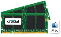Crucial 8GB 1066Mhz DDR3 204-Pin SoDIMM SDRAM Memory Modules for Mac LARGE