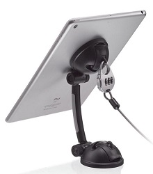 CTA Digital Suction Mount Stand with Theft Deterrent Lock for iPad, Tablets & Smartphones
