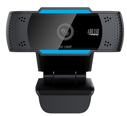 Adesso CyberTrack H5 1080p Full HD USB Webcam with Built-in Dual Microphone & Privacy Shutter LARGE