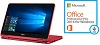 "Dell Inspiron 11 3168 Series 11.6"" Touchscreen Intel Celeron 2-in-1 Notebook w/MS Office 2016 (Red)"
