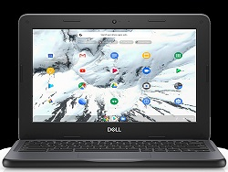 "Dell Chromebook 3100 for Education 11.6"" Intel Celeron 4GB RAM 16GB eMMC Chromebook PC LARGE"