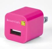 DigiPower iEssentials USB Wall Charger (Pink)