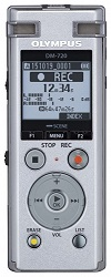 Olympus DM-720 4GB Digital Voice Recorder with FREE 32GB microSD Card LARGE