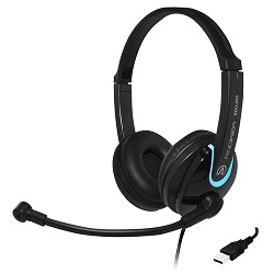 Andrea Communications EDU-255 USB On-Ear Stereo Headset