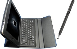 EKG iPad Keypad Case with Bluetooth Keyboard Bonus Bundle
