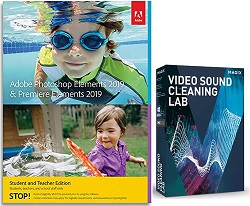 Adobe Photoshop Elements 2019 & Premiere Elements 2019 Student&Teacher with  SoundLab (Download)