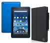 "Amazon Fire 7"" Quad-Core Fire OS 5.0 Tablet with Case (Blue)"