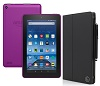 "Amazon Fire 7"" Quad-Core Fire OS 5.0 Tablet with Case (Magenta)"