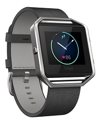 Fitbit Flex Blaze Leather Band + Frame Black Leather (Large)