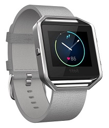 Fitbit Flex Blaze Leather Band + Frame Mist Grey Leather (Large)