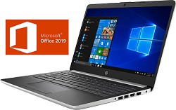 "HP 14-DK 14"" FHD AMD A9 4GB Laptop with Microsoft Office Pro Plus 2019 LARGE"