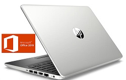 "HP 14-CF 14"" AMD E2 4GB Laptop PC with Microsoft Office Pro 2019 (Refurbished)"