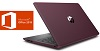 "HP 17-BY 17.3"" Touchscreen Intel Core i3 8GB Laptop PC w/MS Office Pro 2019 (Burgundy/Ash) (Refurb)"