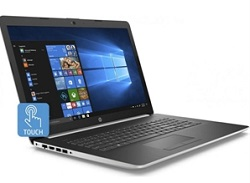 "HP 17-BY 17.3"" Touchscreen Intel Core i5 8GB + Optane Laptop PC w/Office 365 (Silver/Ash) (Refurb) LARGE"
