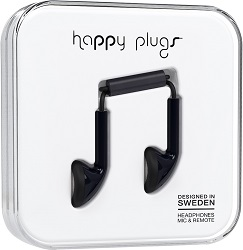 Happy Plugs Fashion Earbuds with Mic & Remote (17 Fashion Colors) LARGE